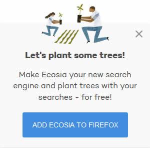 Blog : Ecosia, comment installer Ecosia ? - différent.land