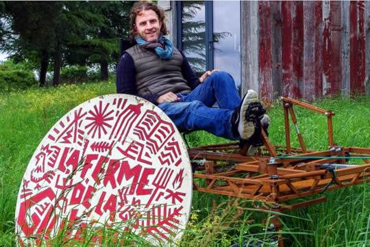 Photo de Charles Edouard Oksenhendler, créateur de la ferme de la Glutamine