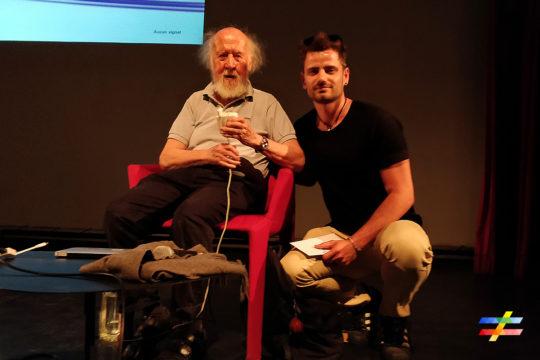 Photo de Hubert Reeves et de Cyril Ferret, cofondateur du site different.land