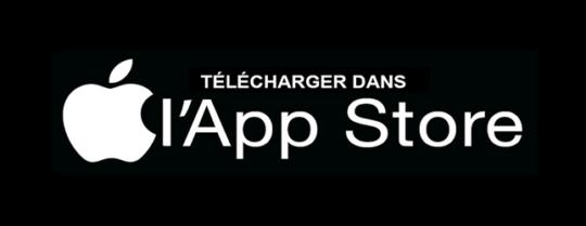 Bouton de téléchargement pour l'App Store