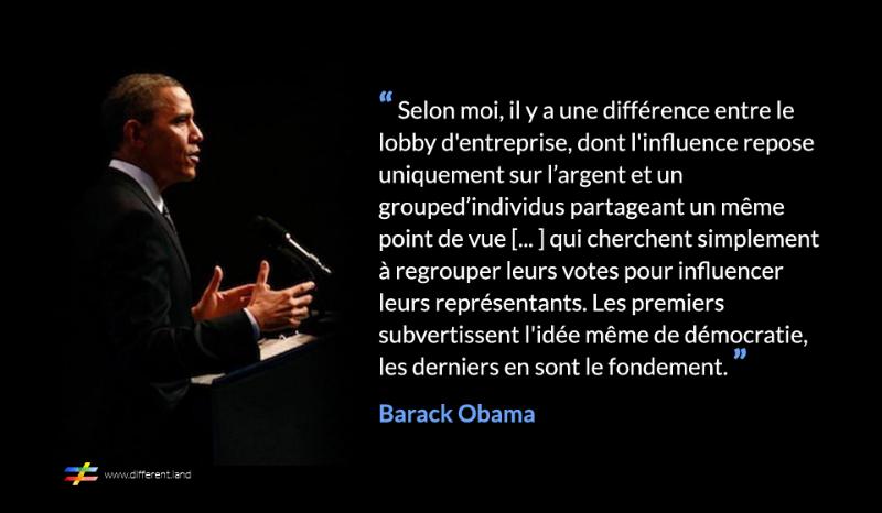 Les lobbies : Obama - différent.land